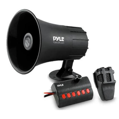 Siren Horn Speaker System with Handheld PA Microphone