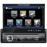 "Power Acoustik 7"" Motorized Fiip-out Monitor Bluetooth"
