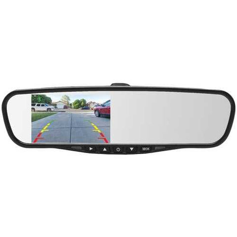 "Crimestopper Mir-45bt 4.5"" Universal Rearview Mirror With Built-in Bluetooth & Microphone (pack of 1 Ea)"