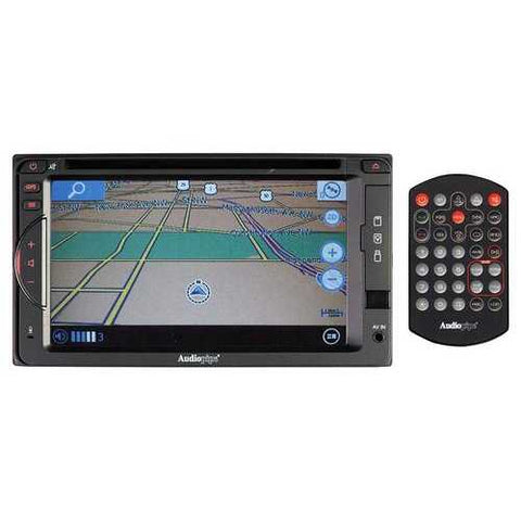 "Audiopipe 6.2"" DVD/CD Fixed Panel Receiver GPS bluetooth AM/FM USB/SD Remote"