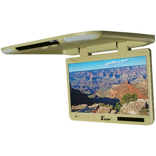 "Tview 25"" TFT Flipdown Monitor Built in IR Remote Light Tan"