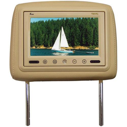 "Tview 9"" TFT LCD Monitor in headrest IR Trans Tan"