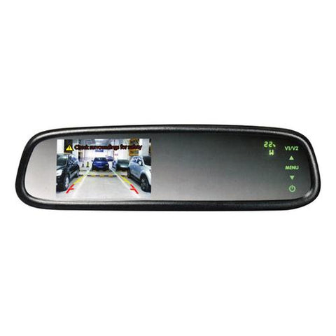 "Boyo 4.3"" OE Style Rear View Mirror Monitor with Compass & Temperature"