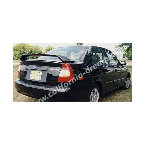 Unpainted Hyundai Accent Sedan Spoiler 2000-2002 Custom Style