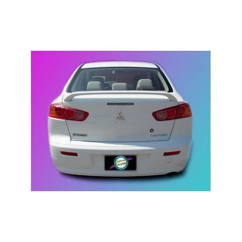 Painted 2008-2015 Mitsubishi Lancer Spoiler Custom Style