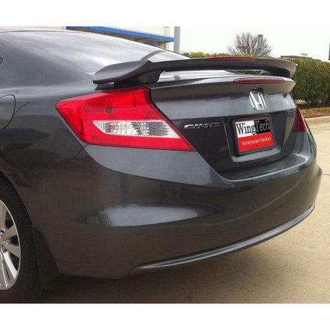 Unpainted 2012-2016 Honda Civic Coupe Spoiler Custom Style With Light