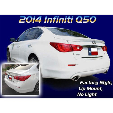 Painted 2014-2016 Infiniti Q50 Spoiler Factory Lip Style