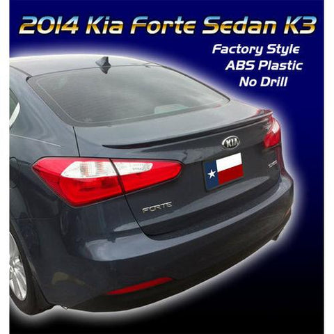 Painted 2014-2017 Kia Forte K3 Sedan Spoiler Factory Lip Spoiler