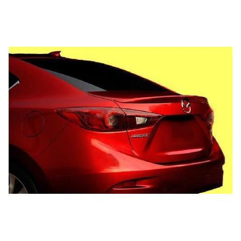 Unpainted 2014-2017 Mazda 3 Spoiler Factory Lip Style