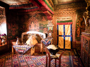 The Potala Palace in Lhasa. Dalai Lama room.