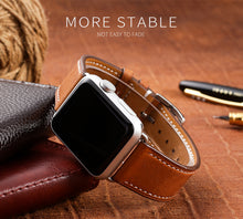 TECHO Genuine Leather Band Strap for Apple Watch Series 4 3 2 1