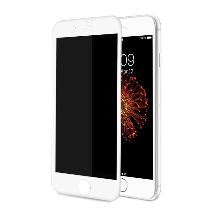 TECHO Privacy Screen Protector for iPhone 8 Plus 7 Plus, [Full Coverage] [Case Friendly] [Super Clear] Anti-Spy 9H Hardness Tempered Glass Screen Protectors (White)