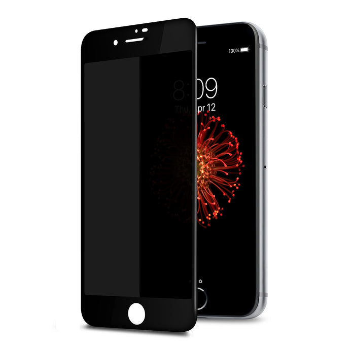 TECHO Privacy Screen Protector for iPhone 8 Plus 7 Plus, [Full Coverage] [Case Friendly] [Super Clear] Anti-Spy 9H Hardness Tempered Glass Screen Protectors (Black)