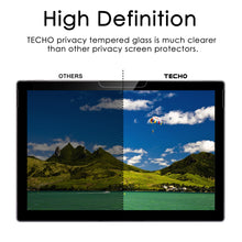 TECHO Privacy Screen Protector Compatible with Surface Pro 6 / Surface Pro (5th Gen) / Surface Pro 4 - [Tempered Glass] [Anti Spy] [High Responsivity] [High Definition] [Easy Installation]