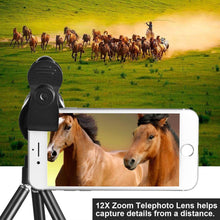 TECHO Universal 12X Zoom Telephoto Lens, Professional HD Super Wide Angle Lens, Macro Lens for iPhone Samsung Google & Most Smartphones