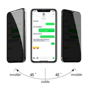 TECHO Privacy Screen Protector for iPhone Xs Max (6.5 inch), Full Coverage Tempered Glass [Case Friendly][Advanced Clarity] Anti-Spy 9H Screen Protectors for Apple iPhone Xs Max (2018)