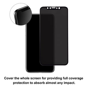 TECHO Privacy Screen Protector for iPhone X, Anti Spy 9H Tempered Glass for Apple iPhone 10, Edge to Edge Full Cover Screen Protector [Full Coverage] [Easy Install]