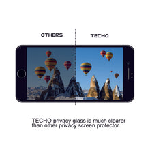 TECHO Privacy Screen Protector for iPhone 8 7 6s 6, Anti Spy 9H Tempered Glass, Edge to Edge Full Cover Screen Protector [Anti-Fingerprint] [Bubble Free] [Full Coverage] (Black)