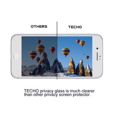 TECHO Privacy Screen Protector for iPhone 8 Plus 7 Plus, Anti Spy 9H Tempered Glass, Edge to Edge Full Cover Screen Protector [Anti-Fingerprint] [Full Coverage] (White)