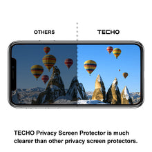 TECHO Privacy Screen Protector for iPhone X, [Full Coverage] [Case Friendly] [Super Clear] Anti-Spy 9H Hardness Tempered Glass Screen Protectors for Apple iPhone 10