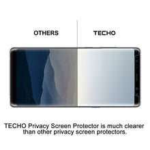 TECHO Privacy Screen Protector for Samsung Galaxy S9 Plus, Anti-Spy 9H Tempered Glass [Full Adhesive] [Case-Friendly] [Highly Responsive] [Anti-Scratch] [Easy Installation]
