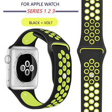 TECHO Breathable Soft Silicone Sport Band for Apple Watch Series 4 3 2 1
