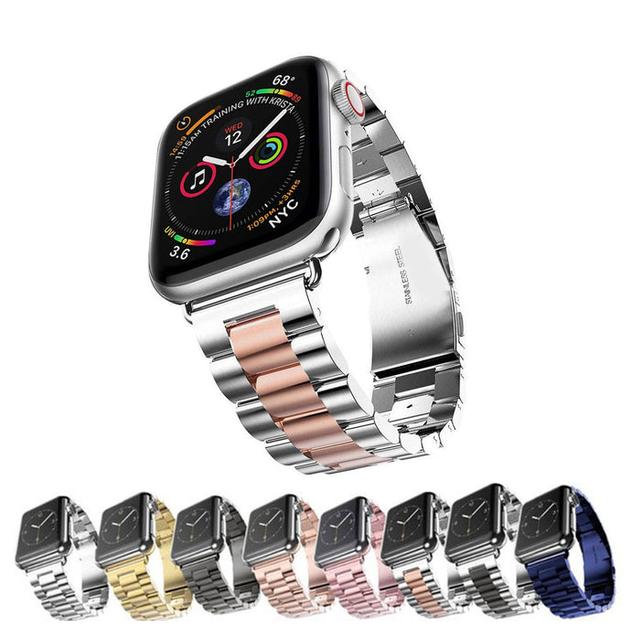 TECHO Stainless Steel Band for Apple Watch 44MM 40MM 42MM 38MM