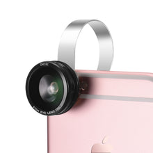 TECHO Universal 3 in 1 Clip-on Camera Lens Kit for iPhone iPad Samsung Smartphone Tablet (180 Degree Fisheye, 0.67X Wide Angle, 10X Macro)
