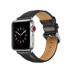 TECHO Genuine Leather Band for Apple Watch Series 4 3 2 1