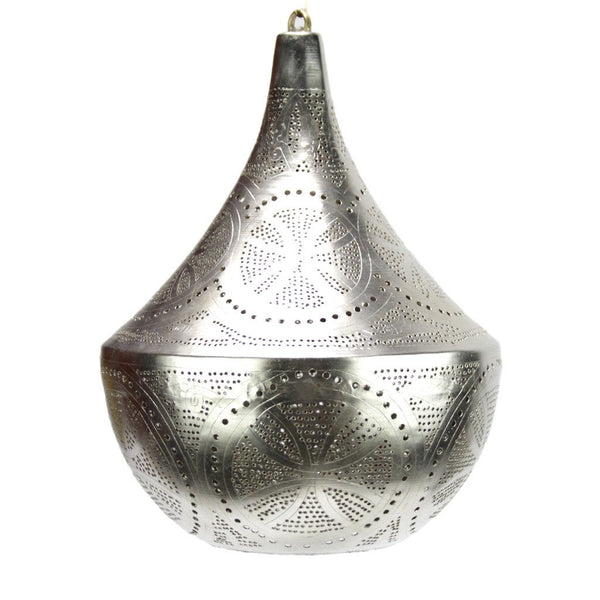 Silver Bell Egyptian Lamp