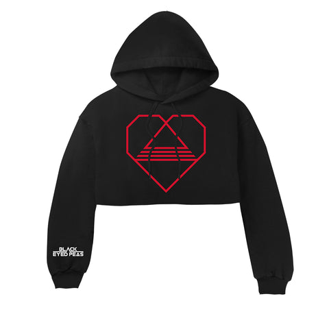Tri-Angle Heart Cropped Hoodie