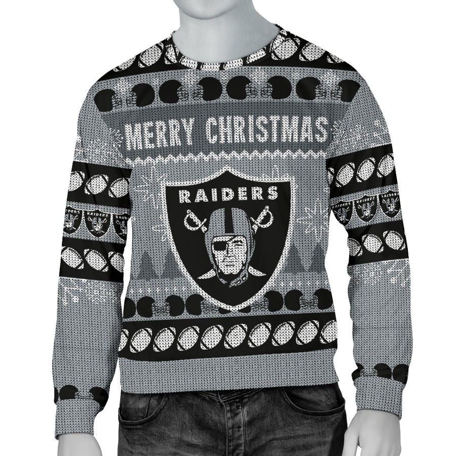 Oakland Raiders Men s Ugly Sweater b55621bd2