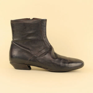 Ankle boot in pelle tuffata