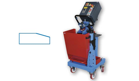 OMCA ART.900 automatic feed plate bevel machine for V chamfer butt weld profiles or edge conditioning