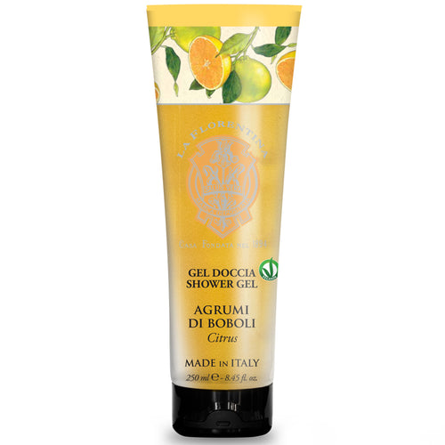 La Florentina Boboli Citrus Shower Gel Tube 250ml  Italian Soap Tuscan region made in Italy