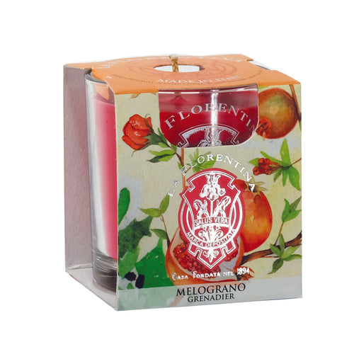 La Florentina Scented Candle Pomegranate Natural 160g