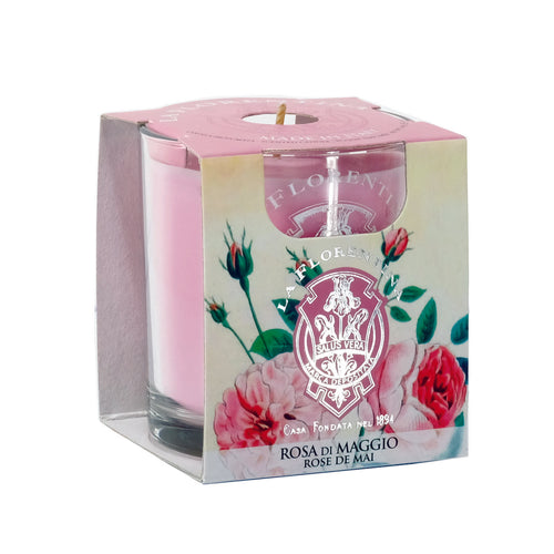 La Florentina Scented Candle Rose of May Natural 160g