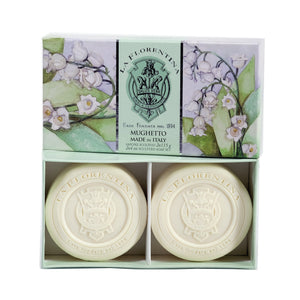 La Florentina Soap Lily of the Valley Natural Tuscan 2 Bars soap 115g Gift Boxed