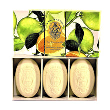Load image into Gallery viewer, La Florentina Boboli Citrus Italian Soaps Natural Tuscan 3 Bars Soap 150g Gift Boxed