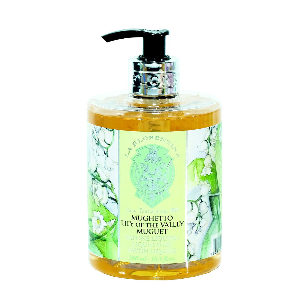 La Florentina Hand Wash Liquid Pump Soap Lily of the Valley Natural Tuscan Scent 500ml