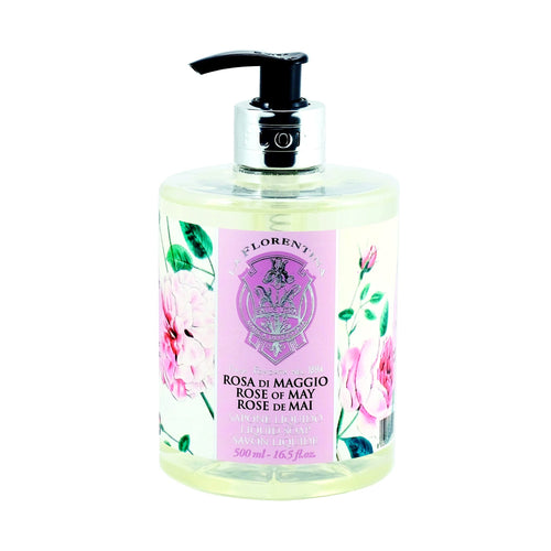 La Florentina Hand Wash Liquid Soap Rose of May Natural Tuscan Scent 500ml