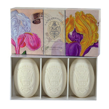 Load image into Gallery viewer, La Florentina Italian Soaps Iris Natural Tuscan 3 Bars 150g Gift Boxed