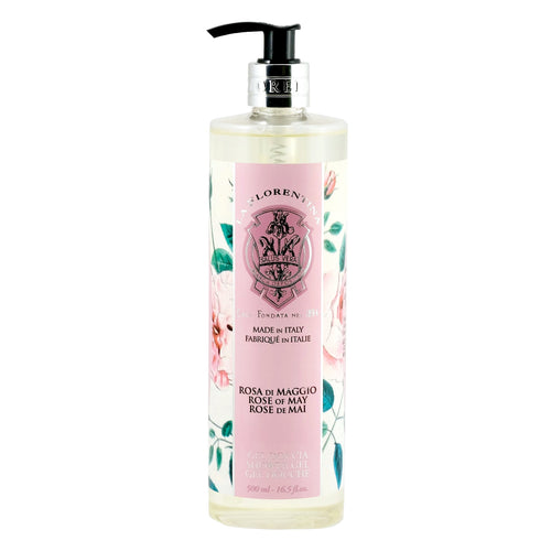 La Florentina Shower Gel Liquid Pump Rose of May 500ml Natural Tuscan soap body care