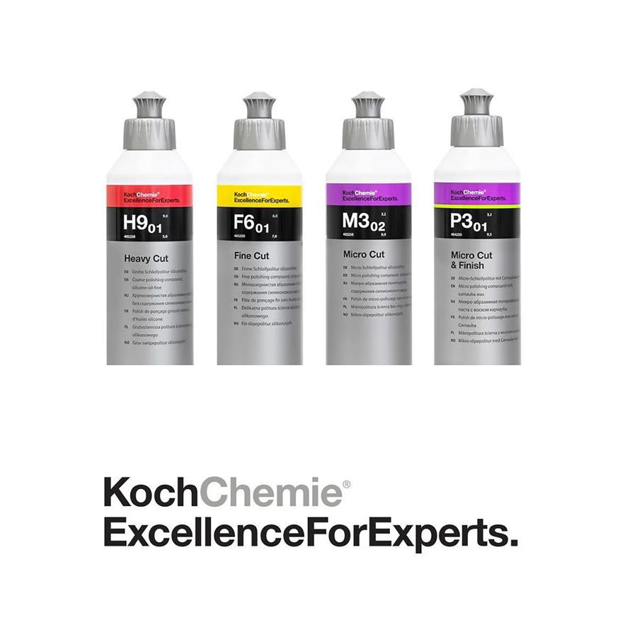 Package: Koch Chemie's / H9.01, F6.01 M3.02 and P3.01 / Complete Polishing System