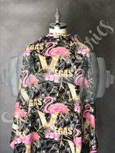 Load image into Gallery viewer, Vegas Victory Flamingos Racer Back Tank
