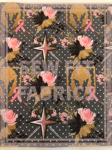 VGK inspired Breast Cancer Awareness Fabric