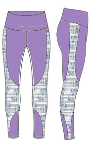 """Tempo Tights"" color blocked leggings"