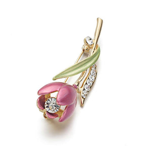 | Tulip Flower Brooch Pin |
