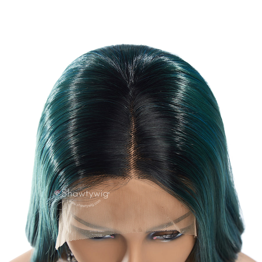 Green With #1B Dark Roots / 16 Inch