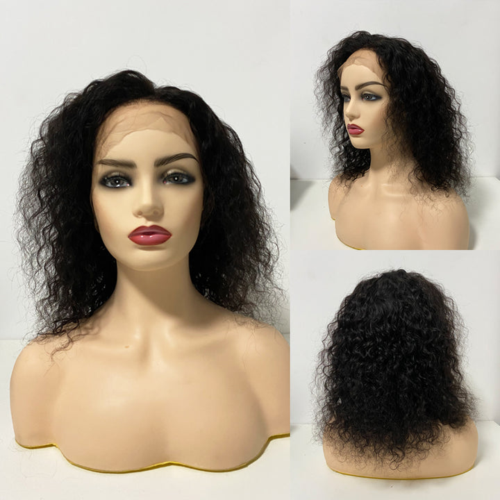 360 Natural Curly Human Hair Wigs